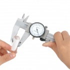200mm Stainless Steel Dial Caliper with Case - Silver