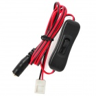 Connecting Cable with On/Off Switch and DC Female Plug for 3528 LED Strip - Black + Red (100cm)