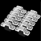 Plastic Buckle Clip for High Power 220V SMD 3528 LED Flexible Strip - Transparent (10 PCS)