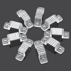 Silicone Clip Buckles for 220V 5050 LED Strip - Transparent (10 PCS)