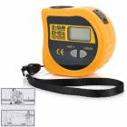 "Portable 1.0"" LCD Ultrasonic Distance Tape Measure - Yellow (18m / 23A/12V Battery)"