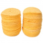 Round Cleaning Pad for Solder Tip - Yellow (100 PCS)