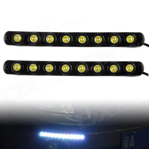 4W 600LM 6000K 8-5050 SMD White LED Eagle Eye Car Daytime Running Lamp (DC 12V / 2 PCS)