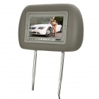 "7"" LCD Screen Car Headrest Monitor w/ Remote Controller / AV-IN - Grey (2 PCS)"