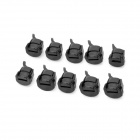 Plastic Dishwasher Power Cord Claspers - Black (10 PCS)