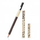 Leopard Pattern Dual-Head Eyebrow Pen + Brush - Light Golden + Black