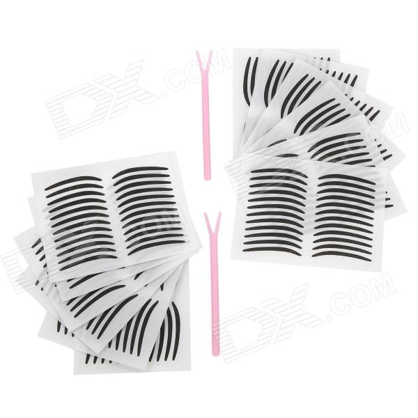 Cosmetic Double Eyelid Sticker / Eyeliner Sticker - White + Black (2 PCS)