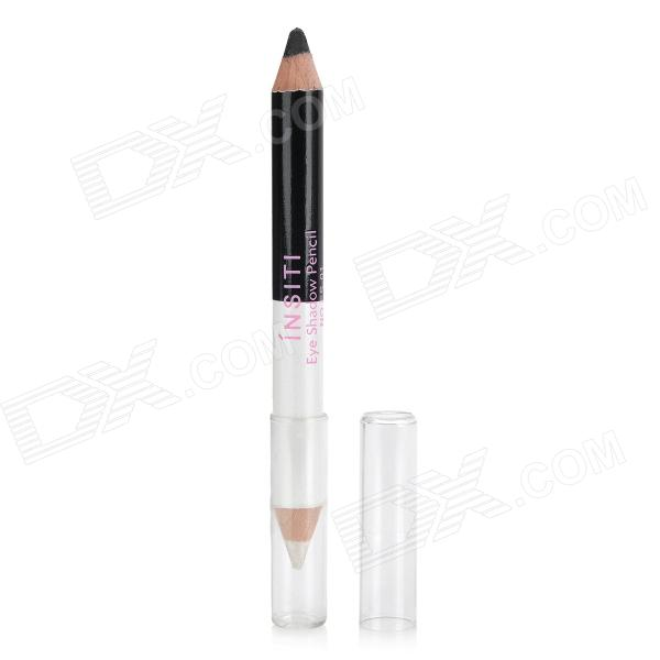 Cosmetic Makeup Dual-Head Eyeliner Pencil - White + Black
