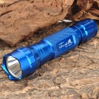 UltraFire WF-501B Cree XM-L T6 350lm White Light Flashlight - Blue (1 x 18650 / 2 x 16340)