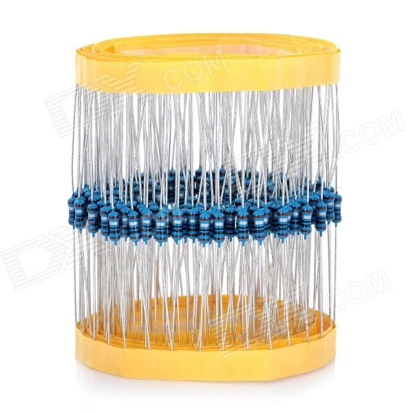 DIY 1/4W 1ohm Resistance Metal Film Resistors - Blue + Silver (200 PCS) jtron 0 5w carbon film resistors color ring resistance blue 100 pcs
