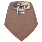 Saber-Toothed Tiger Pattern Polyester Fiber Cycling Mask - Brown