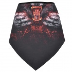 Cool Monster Pattern Polyester Fiber Cycling Mask - Black + Red