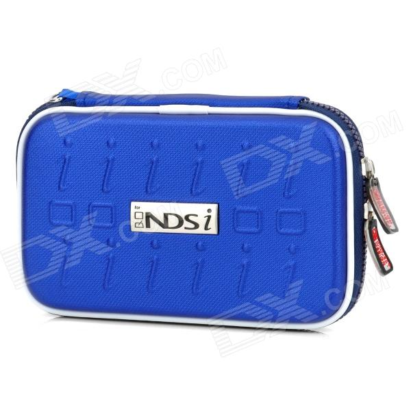 Project Design Stripe Pattern Protective Fabric Pouch w/ Strap for Nintendo DSi - Deep Blue