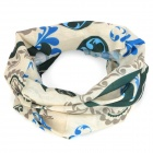 Free Soldier Multifunction Outdoor Sports Cycling Seamless Head Scarf - Beige + Blue