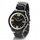 EYKI Fashion Men's Stainless Steel Sports Quartz Wrist Watch - Black (1 x LR626 / LR66)
