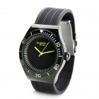 EYKI Fashion Men's Rubber Band Sports Quartz Wrist Watch with Noctilucent - Black (1 x LR626 / LR66)