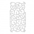 Protective Hollow-Out Plastic Case for Iphone 4 / 4S - White