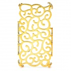 Unique Protective Palace Flower Pattern Plastic Back Case for Iphone 4 / 4S - Golden
