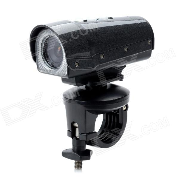 Waterproof Sports 1080P HD CMOS Wide Angle Camcorder w/ TF / 8-LED IR Night Vision - Black (8GB TF)
