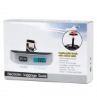 "1.3"" LCD Digital Luggage Scale w/ Thermometer Function - 50kg/10g"
