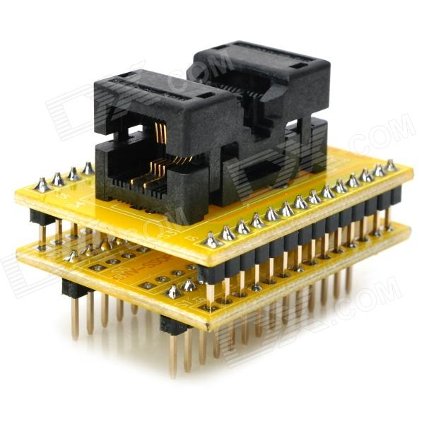 SSOP8 to DIP8 Programmer Adapter for Xeltek - Yellow clamshell qfp144 lqfp144 tqfp144 su h8s2505 tq144 programmer adapter for lp programmer