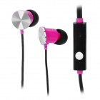 IP-609 3.5mm In-Ear Earphone w/ Microphone for Ipad / Iphone / HTC / Blackberry - Red + Black