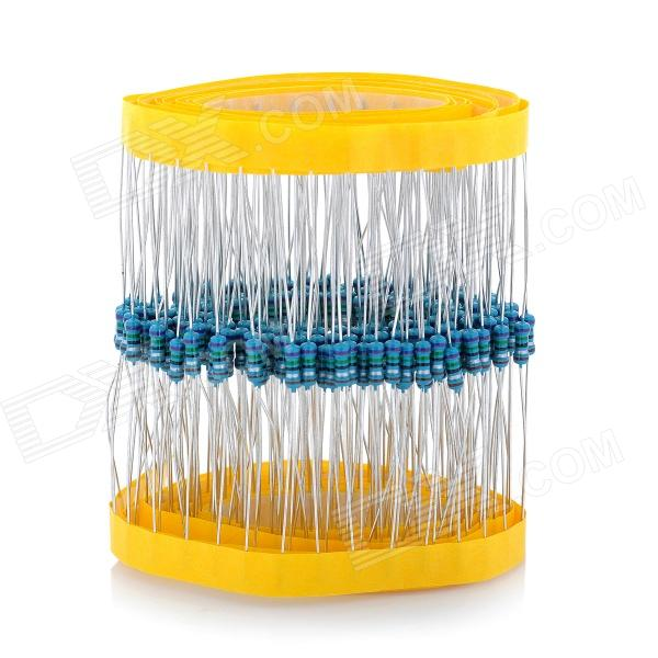 DIY 1/4W Resistance Metal Film Resistors - Blue (200 PCS) jtron 0 5w carbon film resistors color ring resistance blue 100 pcs