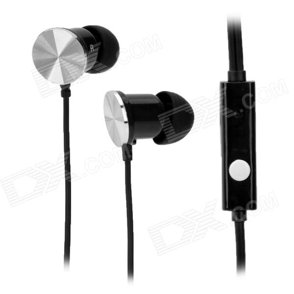 IP-609 3.5mm In-Ear Earphone w/ Microphone for Iphone / Ipad / HTC / Blackberry - Black kz ed8m earphone 3 5mm jack hifi earphones in ear headphones with microphone hands free auricolare for phone auriculares sport