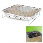 Portable Disposable Instant Barbecue BBQ Grill - Silver