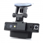 "X9000 2.0"" TFT Dual-Camera 5.0MP Car DVR Camcorder with Mini USB / HDMI / Micro SD Slot - Black"