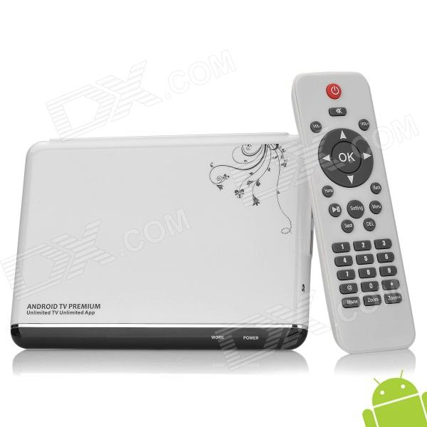 ATV-108 Android 4.0 AMLOGIC Cortex A9 1GB DDR3 4G ROM Mini PC w/ MIC / HDMI / AV / Lan / OTG - White hot sale celeron mini pc desktop computers dual lan mini pc x29 j1800 j1900 2 gigabit lan hdmi vga windows 7 win10 ubuntu