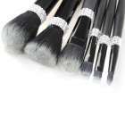 Professional Cosmetic Makeup Brushes Set - Black (6 PCS)