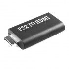 PS2 Male to HDMI Female Converter Adapter - Black