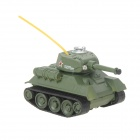 Mini 27MHz Rechargeable 2.5-CH R/C Battle Tank - Green