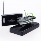 Mini Rechargeable 2-Channel R/C Radio Control Boat Toy - Green + Black + White