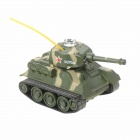 Mini 27MHz Rechargeable 2.5-CH R/C Battle Tank - Camouflage Yellow