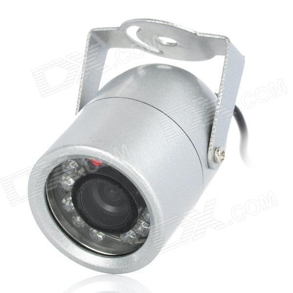 608S-U Waterproof NTSC CMOS CCTV Camera w/ 12-IR LED Night Vision - Silver mdc3100lt b1 super night vison king exclusive 1 2 cmos mdc cctv camera with mscg glass original mdc camera without bracket