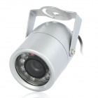 608S-U Waterproof NTSC CMOS CCTV Camera w/ 12-IR LED Night Vision - Silver