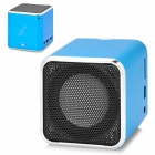 Music Angel Mini Cube Style USB Rechargeable Music Speaker w/ TF / 3.5mm Jack - Blue