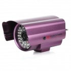 Waterproof 981 NTSC CMOS CCTV Camera w/ 48-IR LED Night Vision - Purple