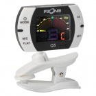 "Q5 Instrument 1.2"" 3-Color Display Clip-On Tuner - Black + White (1 x CR2032)"
