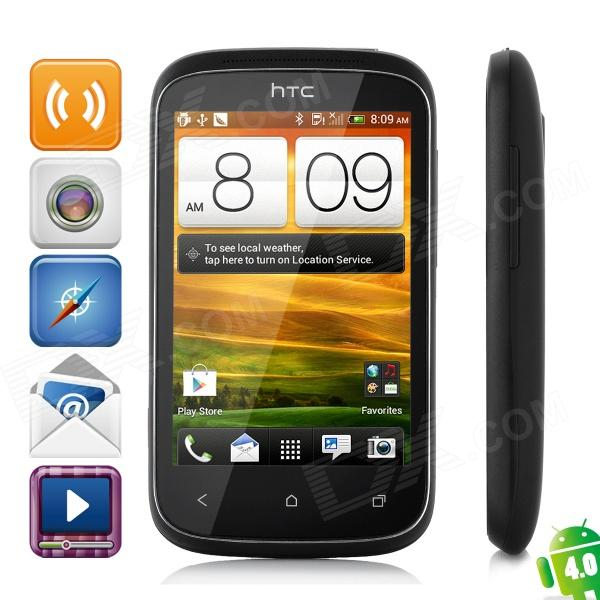 HTC Desire C A320 Android 4.0 WCDMA Bar Phone w/ 3.5 Capacitive Screen, GPS and Wi-Fi - Black мобильный телефон htc desire 816w htc 816w 5 5 1 5 8 13 gps wifi android