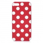 Polka Dot Pattern Protective TPU Back Case for Iphone 5 - Red + White