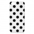 Polka Dot Pattern Protective TPU Back Case for Iphone 5 - White + Black