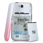 "T9989 Android 2.3 GSM Bar Phone w/ 3.5"" Capacitive Screen, Dual-Band and Wi-Fi - Red + White"