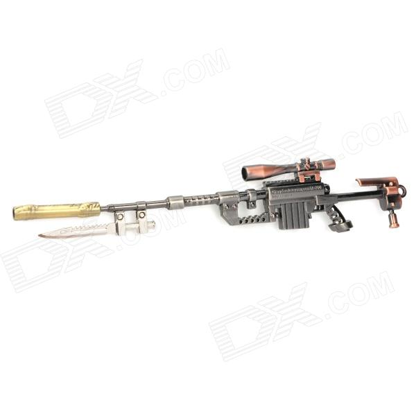 Assembly Alloy Gun Model M200 Sniper Rifle Keychain - Red Bronze + Gray