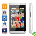 "A518 Android 2.3 GSM Bar Phone w/ 3.5"" Capacitive Screen, Dual-Band, Wi-Fi and Dual-SIM - White"