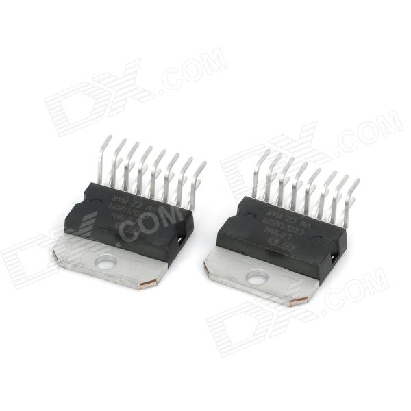 L298N Stepper Motor Driver Chip Module - Black + Silver (2 PCS) nema24 3nm 425oz in integrated closed loop stepper motor with driver 36vdc jmc ihss60 36 30