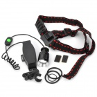 Adjustable Focus White LED 800LM 5-Mode Headlamp - Black (1 x 18650)