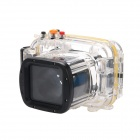 Meikon-23 Waterproof PC Camera Housing Case for Nikon J1 w/ 10~30mm Lens - Transparent + Orange